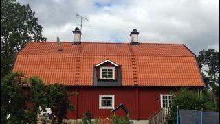 En takläggare i Västerås